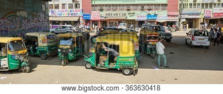 Tuk Tuks In The Streets Of Agra, India