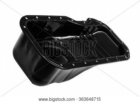 Oil Pan Of A Car Engine On A White Background