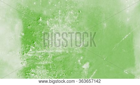 Old Rusty Texture Metal Background. Oxidized Metal Iron Panel, Green Toned
