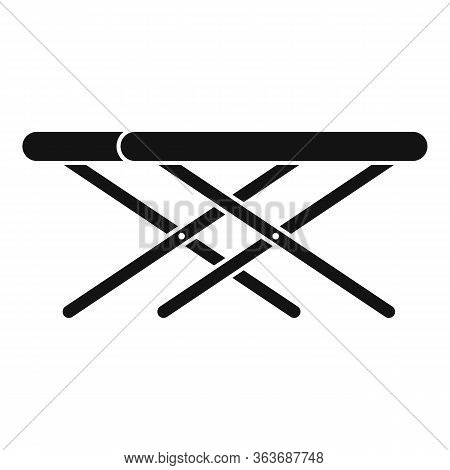 Portable Outdoor Table Icon. Simple Illustration Of Portable Outdoor Table Vector Icon For Web Desig