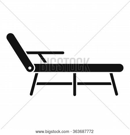 Deck Chair Icon. Simple Illustration Of Deck Chair Vector Icon For Web Design Isolated On White Back