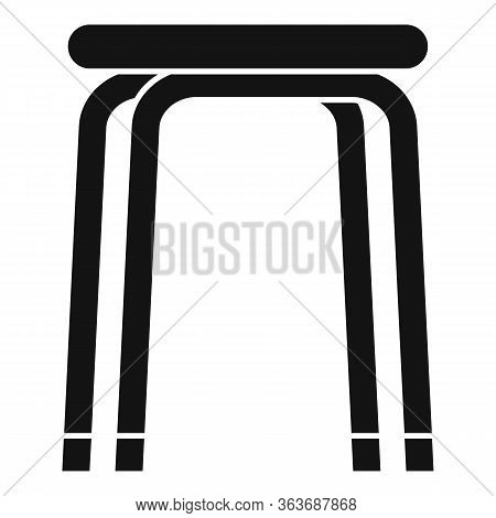 Stool Icon. Simple Illustration Of Stool Vector Icon For Web Design Isolated On White Background