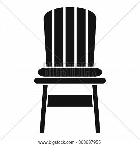 Comfortable Outdoor Chair Icon. Simple Illustration Of Comfortable Outdoor Chair Vector Icon For Web