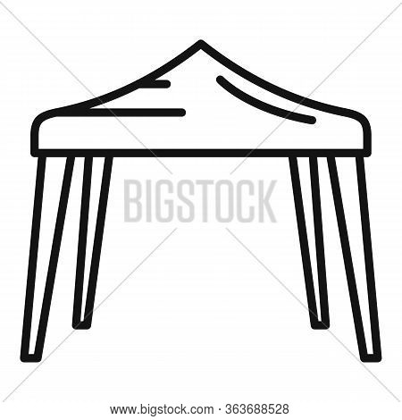 Event Tent Icon. Outline Event Tent Vector Icon For Web Design Isolated On White Background