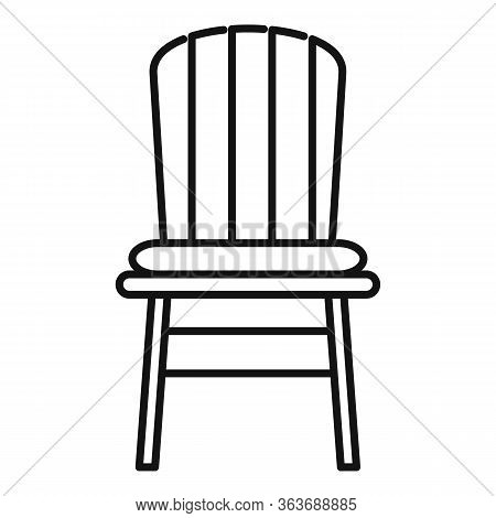 Comfortable Outdoor Chair Icon. Outline Comfortable Outdoor Chair Vector Icon For Web Design Isolate