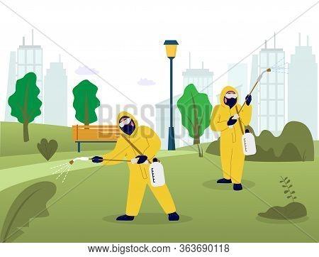 Professional Pest Control Services, Vector Flat Illustration