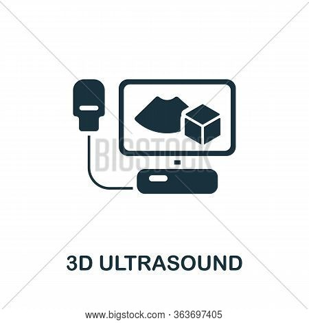 3d Ultrasound Icon. Simple Illustration From Medical Equipment Collection. Creative 3d Ultrasound Ic