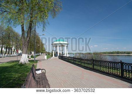Arbour Or Rotunda On The Volga Embankment. Yaroslavl. Russia