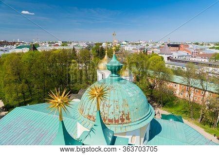 Skyline View Of Yaroslavl City Of Russia.