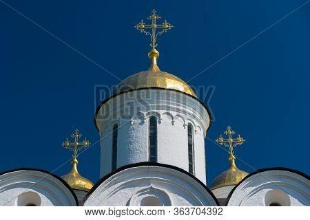 The Ortodox Church Of The Spaso-preobrazhensky Monastery. Yaroslavl, Russia