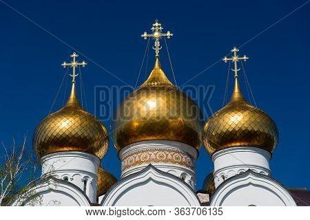 Golden Domes Of The Russian Orthodox Church.