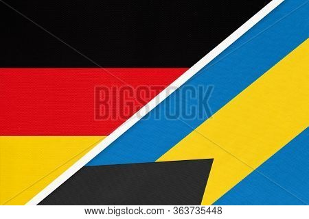 Federal Republic Of Germany Vs Commonwealth Of The Bahamas, Symbol Of Two National Flags From Textil