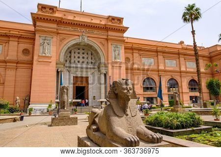 Cairo / Egypt - May 25th 2019: The Museum Of Egyptian Antiquities (egyptian Museum) Which Houses The
