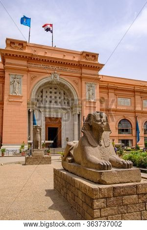 Egyptian Museum Which Houses The World's Largest Collection Of Ancient Egyptian Antiquities In Cairo
