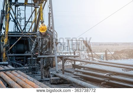 Workover Rig Working On A Previously Drilled Well Trying To Restore Production Through Repair. Offsh
