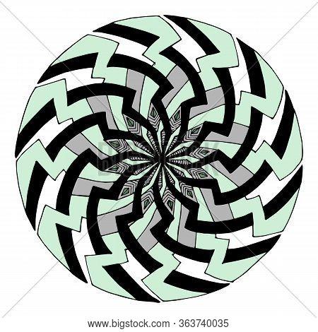 Mandala Drawn By Hand. Mandala Vector. Mandala In A Modern Style. Mandala For Clothing Design, Inter