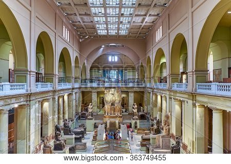 Cairo / Egypt - May 25, 2019: Interior Of The Museum Of Egyptian Antiquities (egyptian Museum) Which