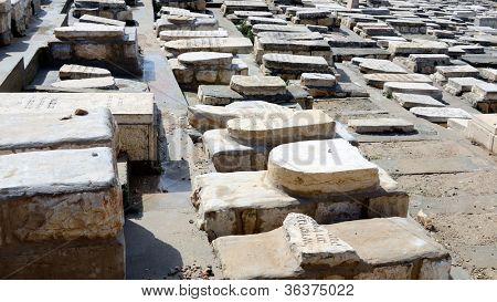 Judaic graves on Mt of Olives in Jerusalem, Israel