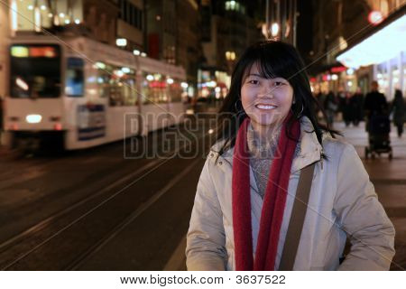 Asian Traveler In Europe