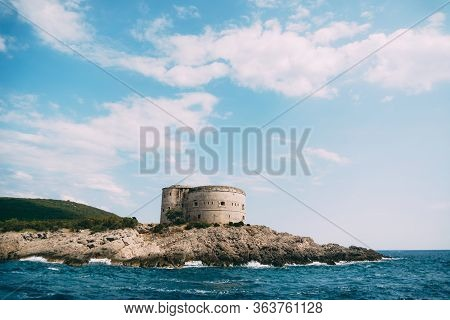 The Ancient Austro-hungarian Fort Arza At The Entrance To The Bay Of Kotor In Montenegro, In The Adr