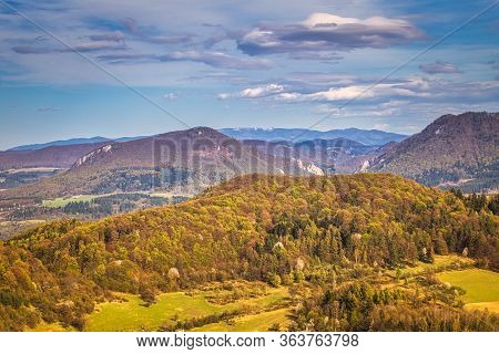 A View Of The Manin Gorge In The Area Of The Sulov Mountains In Northwestern Slovakia, Europe.