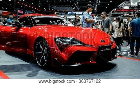 Red Sport Toyota Gr Supra A90 Showcase At Thailand Motor Expo 2019