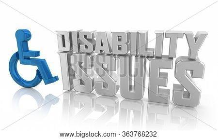 Disability Issues Handicapped Disabled Legal Equality Access 3d Illustration
