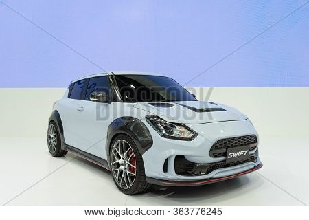 Bangkok, Thailand - April 29, 2020 : Suzuki New Swift Sport. New Version Subcompact Car B Segment Pr