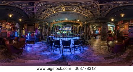 Moscow, Russia - November, 2019: Full Spherical Seamless Hdri  Panorama 360 Degrees In Interior Styl