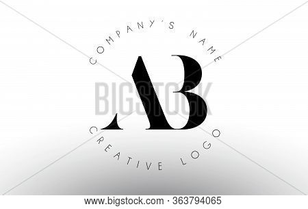 Letters Ab A B Logo With A Minimalist Design. Simple Ab Icon With Circular Name Pattern. Creative St