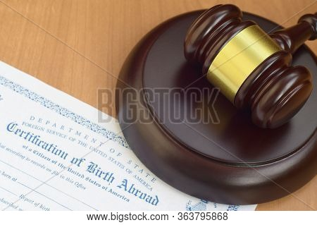 Justice Mallet And United States Certificate Of Birth Abroad