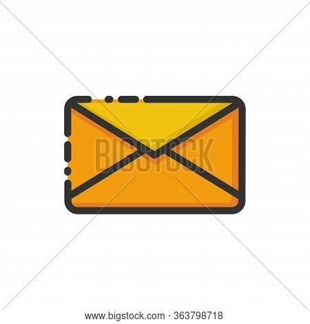 Vector Illustration Of Message Sending. Suitable For Visualizing The Activities Of Digital Messaging