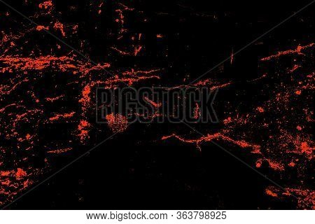 Black Background With Abstract Orange Pattern. Exclusive Background.