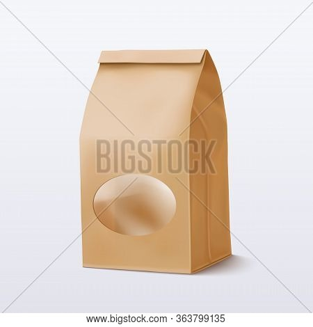 Paper Bag With A Round Transparent Window