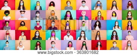 Photo Multiple Montage Image Of Student Kid Afro Human People Of Different Age And Ethnicity Wearing