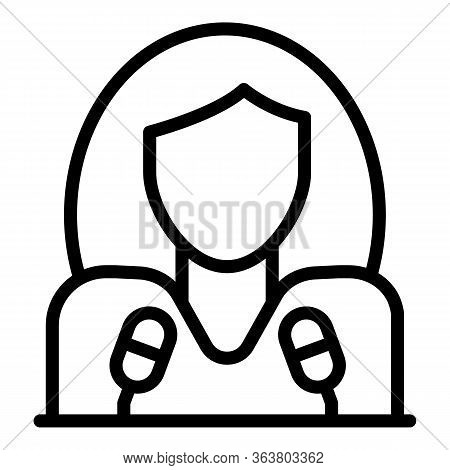 Call Center Coordinator Icon. Outline Call Center Coordinator Vector Icon For Web Design Isolated On