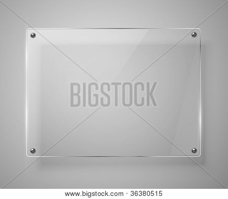 Glass framework. Vector illustration. Jpeg version.