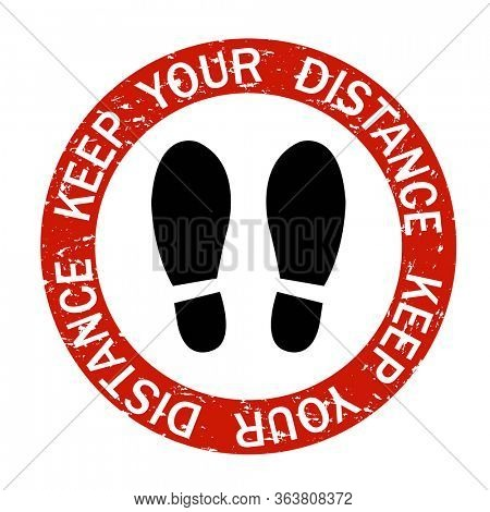 Social Distancing Keep Distance In Public Society People