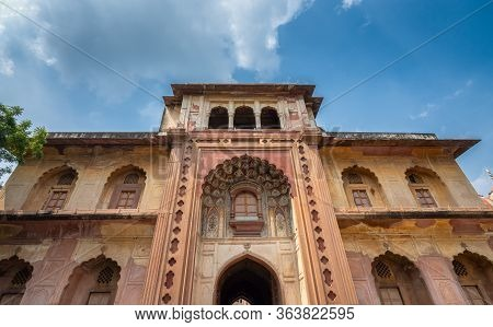Entrance Gate To The Main Building Of Safdarjung's Tomb, Mughal Style Mausoleum Built In 1754 In New