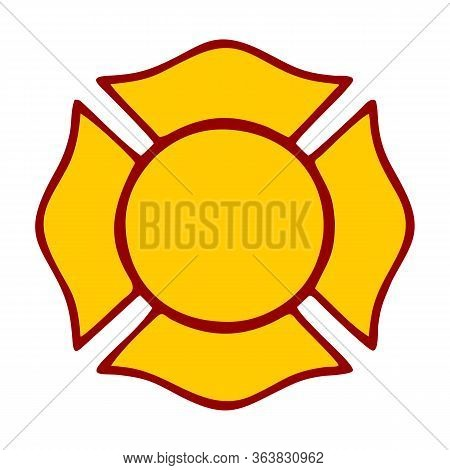 Blank Fire Rescue Department Logo Base Vector Image, Illustration Vector Design