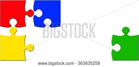 Social Distancing Concept with puzzle pieces.