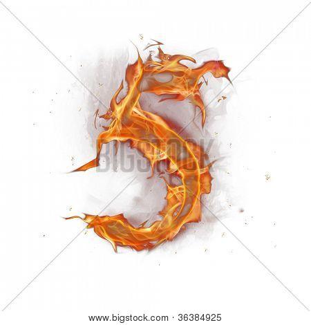 Fire alphabet number 5