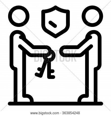 Advertising Agent Team Icon. Outline Advertising Agent Team Vector Icon For Web Design Isolated On W