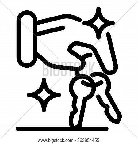 Advertising Agent Room Keys Icon. Outline Advertising Agent Room Keys Vector Icon For Web Design Iso