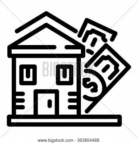 House Selling Icon. Outline House Selling Vector Icon For Web Design Isolated On White Background