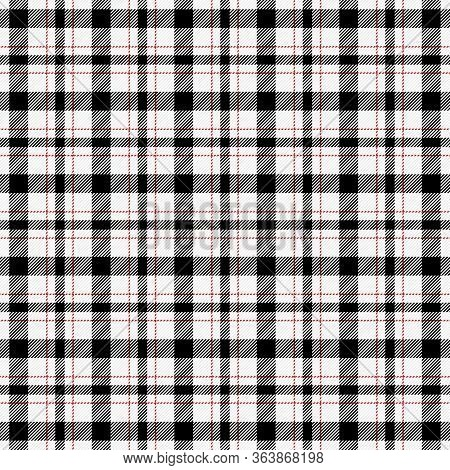 Tartan Plaid. Scottish Pattern In Black, Red And White Cage. Scottish Cage. Traditional Scottish Che