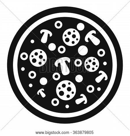 Mushroom Sauce Pizza Icon. Simple Illustration Of Mushroom Sauce Pizza Vector Icon For Web Design Is