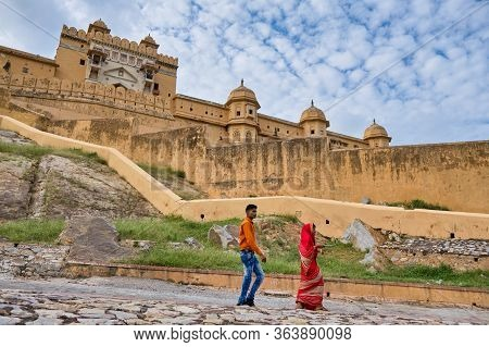 Amer Fort In Jaipur, Rajasthan, India