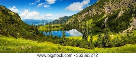 Gorgeous Lake Surrounded By Mountains, The