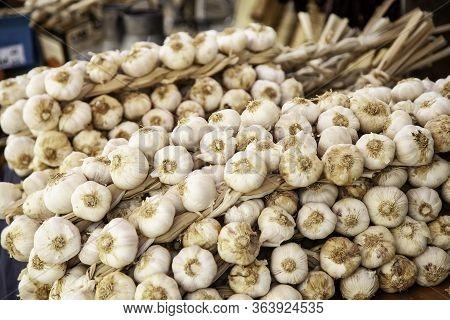 Dried Garlic Dredge, Ingredient And Seasoning Detail, Vegetable